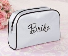 Waar laat jij al je make-up op je bruiloft? juist! in dit mooie make-up tasje BRIDE