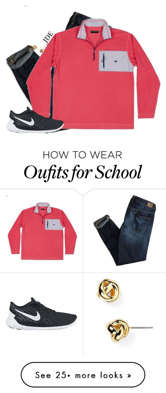 """V-day at my school."" by jane-dodge on Polyvore featuring American Eagle Outfitters, NIKE, Kate Spade, women's clothing, women, female, woman, misses and juniors"