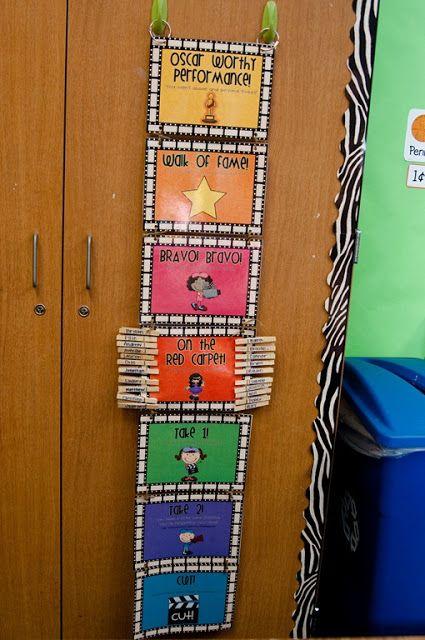 Hollywood Theme Classroom | Hollywood Themed Classroom Behavior Management Clip System
