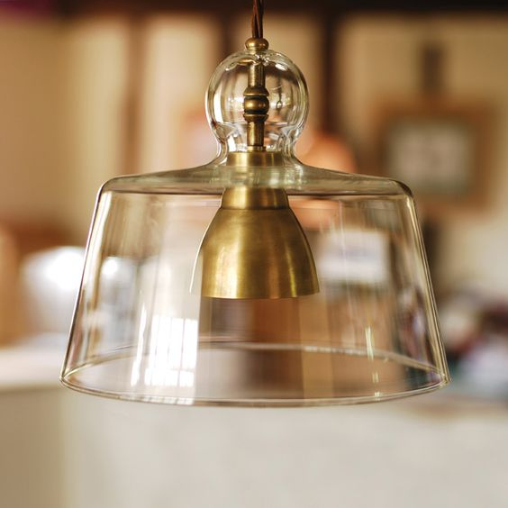 Antiqued Brass Kitchen Pendant Light