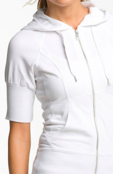 Women's Short Sleeve Zip Hoodie | Zella Supersoft Short Sleeve ...