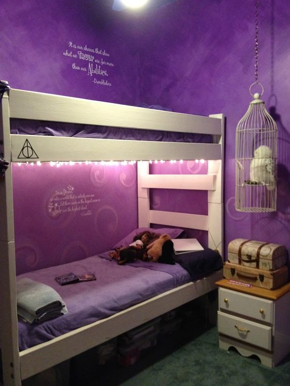 Harry Potter Bedroom I Love Harry Potter Plus Those Purple Walls Are To Die