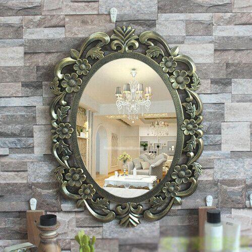 E41 European Retro Bathroom Toilet Vanity Wall Makeup Mirror Front Waterproof Y Fashion Home Garden Homed Retro Bathrooms Toilet Vanity Bathroom Ornaments