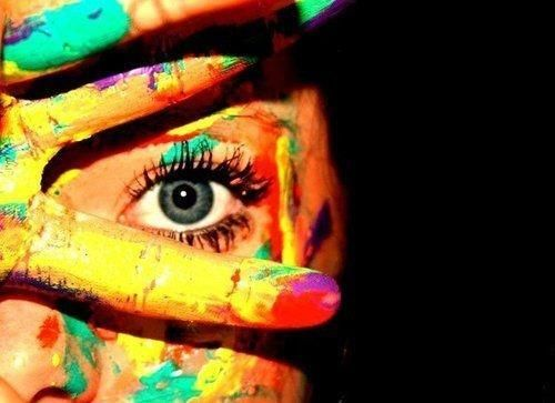 color splash. makeup.