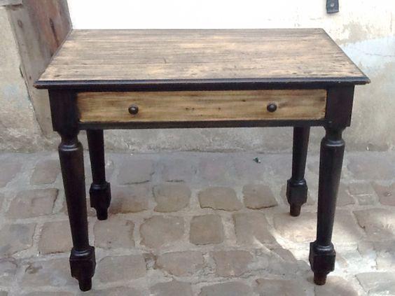 Bureau avec grand tiroir en bois Meubles et rangements par