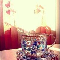 bollakökur eða bollahekl?: Teacosies Teacups, Crochet Table, Biscuits Teacosies, Tea Cups, Teacups Teapots, Cinderella Tea