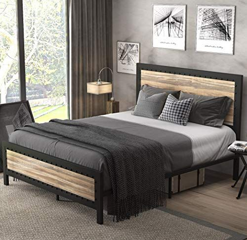 Sha Cerlin Heavy Duty Metal Bed Frame, Heavy Duty Queen Bed Frame With Headboard