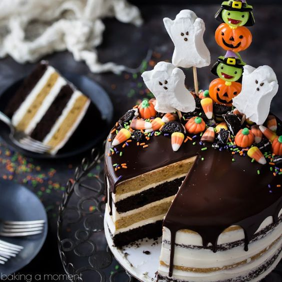 Pumpkin Chocolate Halloween Cake