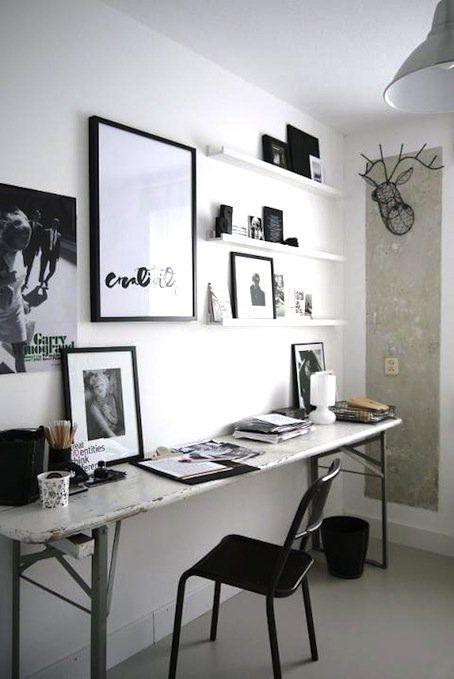 home inspiration: BLACK & WHITE WORK SPACES | BELLAMUMMA