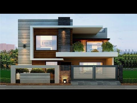 Cute Modern House In 5 Cent Plot 1200 Sft For 12 Lakh Elevation Design Interiors Youtube Modern Exterior House Designs Duplex House Design Facade House