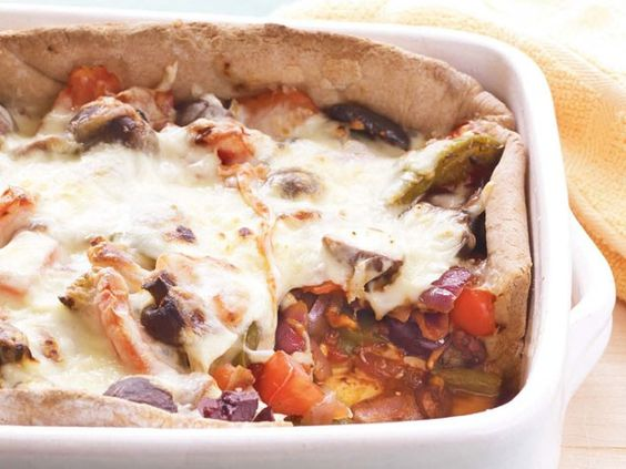 Make your own healthy deep dish pizza!