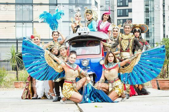 Ladyboys of Bangkok photocall, Edinburgh Festival Fringe, Scotland, UK - 05 Aug 2016  Ladyboys of Bangkok photocall 5 Aug 2016