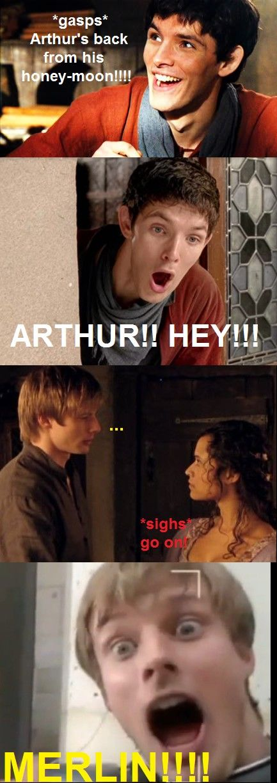 haha merlin/scrubs... merlin like JD and Arthur like Turk