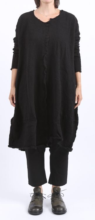 rundholz black label - Strickkleid Paddington Ballonform gekochte Wolle black - Winter 2016