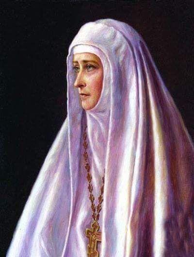 "Painting of the Grand Duchess Elisabeth Feodorovna Romanova of Russia.  ""AL"""