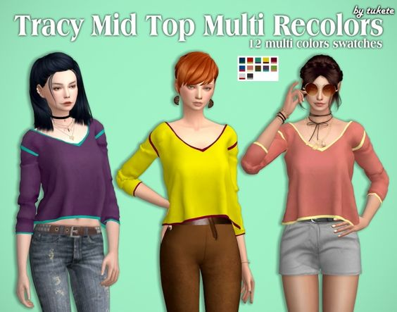 Tracy Mid Top Multi Recolors at Tukete via Sims 4 Updates Check more at http://sims4updates.net/clothing/tracy-mid-top-multi-recolors-at-tukete/