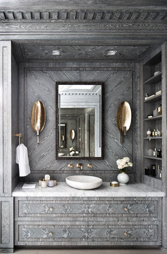 Interiors | Glamorous Bathroom Design Katya Fedorchenko @ Art Of Decor: