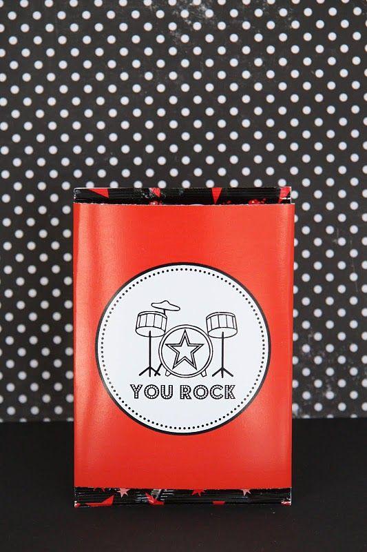 Homemade Valentine Exchange Gift: You Rock Printable for Pop Rocks