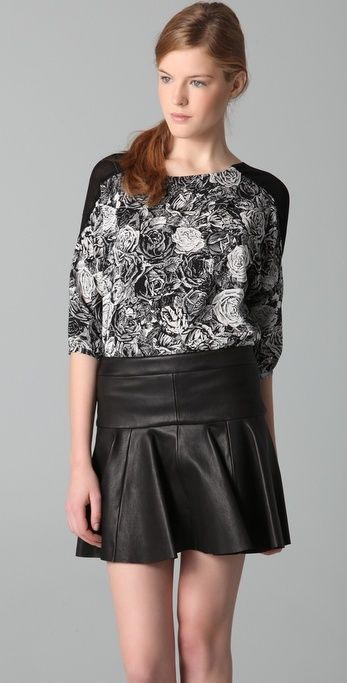 Thakoon Rose Print Top thestylecure.com