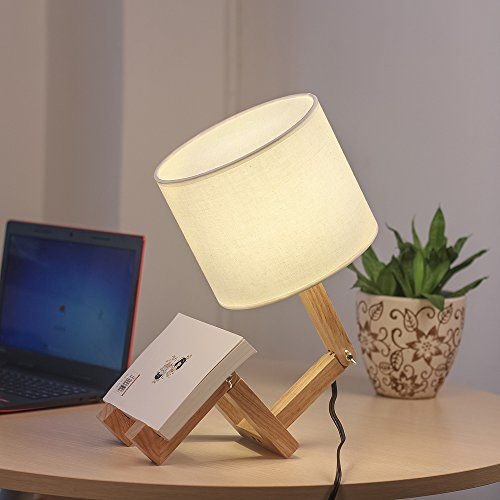 Adjustable Modern Table Lamps With Wooden Base Creative Cute