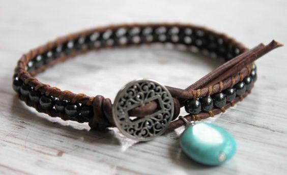 Silver Lining Bead Wrap Bracelet  Boho Chic by merrynwhimsy, $28.00