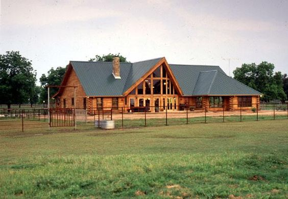Texas Log Home Ranch For The Home Pinterest Log