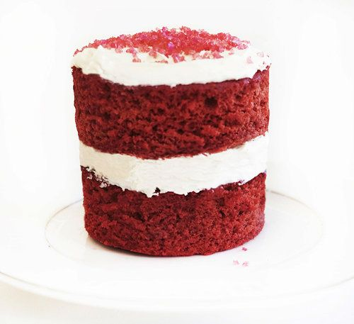 Gluten Free Red Velvet Cake With Colored Sanding Sugar With