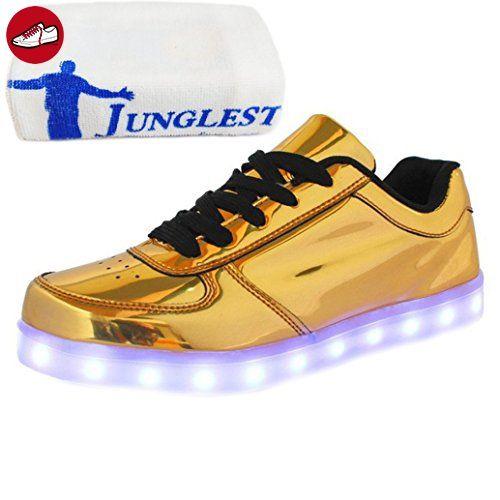 (Present:kleines Handtuch)Goldene EU 43, Herren laufende mode Damen Erwachsene JUNGLEST® schuhe Freizeitschuhe Schuhe Sport Unisex USB Aufladen Farbe 7 Herbst Leucht