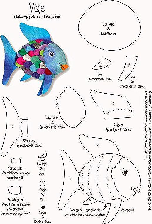 Regenbogenfisch In 2020 Animal Crafts For Kids Kids Art Projects Sewing Projects