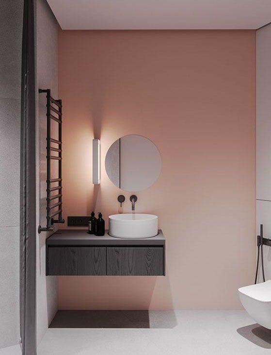 Rose Poudre Associations De Couleurs Idees Pour Une Deco Reussie En 2020 Idee Deco Salle De Bain Couleur Mur Chambre Decoration Salle De Bain