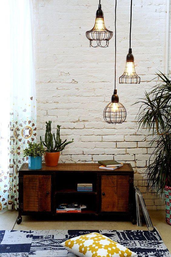 Industrial Wire Hanging Pendant Lamp   Found on EB & Kris   modern lighting   shopebandkris.com