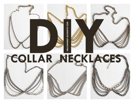 DIY: collar necklaces