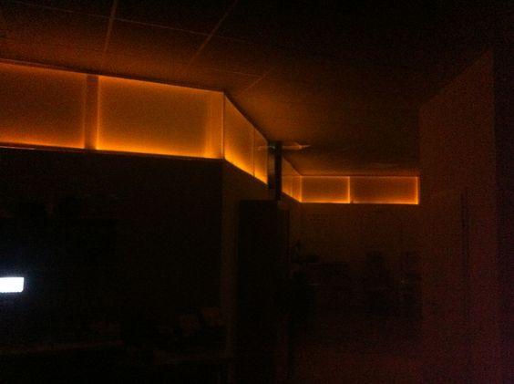 Indirekte Beleuchtung aus Plexiglas
