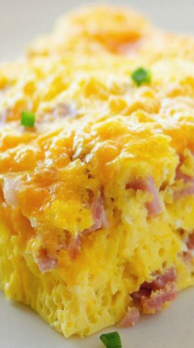Ham And Cheese Omelette Casserole baked ham and cheese omelette recipe ...