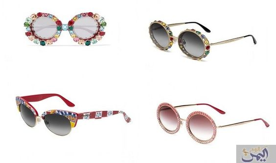 دولتشي آند غابانا تكشف عن نظارات شمس ربيع 2017 بأناقة إيطالية Round Sunglasses Sunglasses Glasses