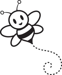Fine Bee Clip Art Black And White On Home Garden With Bumble Bee Clipart Image Bumble Bee Buzzing Around Cartoon In