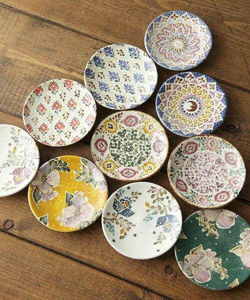 北欧アンティーク食器柄皿