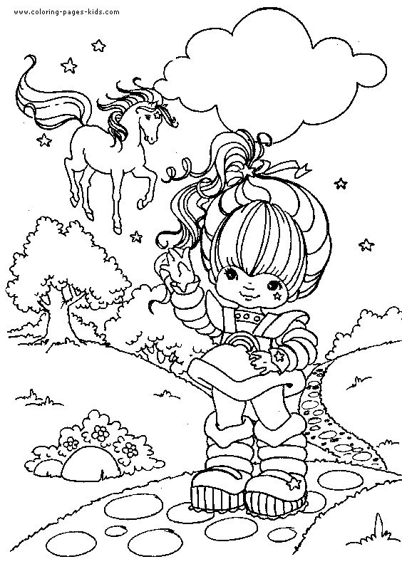 coloring pages of rainbow brite - cartoon characters coloring pages and rainbows on pinterest