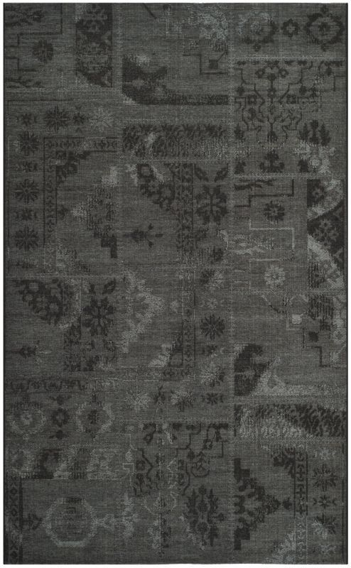 Safavieh PAL121-56C6 Palazzo Black and Grey Power Loomed Polypropylene with Chen 3 x 5 Home Decor Rugs Rugs