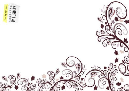 vector floral border design by theartdream via flickr