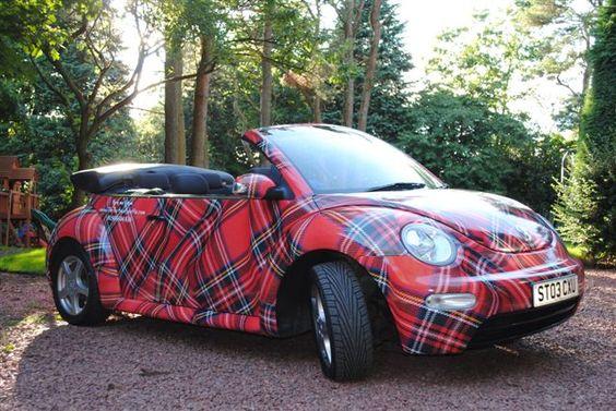 Sigue la tendencia escocesa en tu boda o fiesta!! Tartan Wedding Car Hire