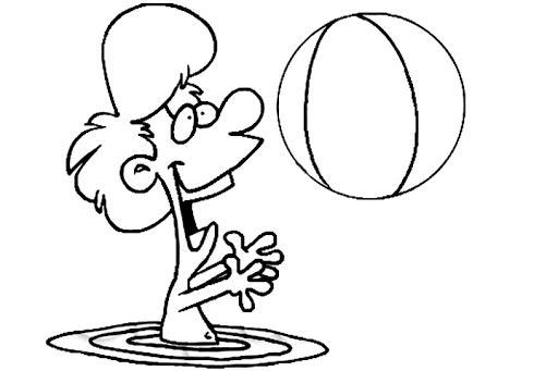 Beach And Ball Coloring Pages Coloring Pages Color Wallpaper