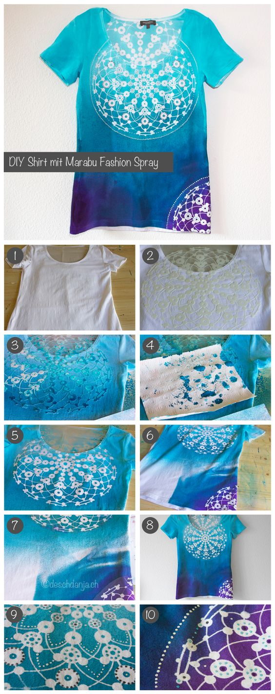 DIY Shirt mit Marabu Fashion Spray