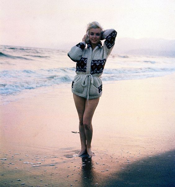 Marilyn Monroe. Pelo fotógrafo George Barrys em 1962