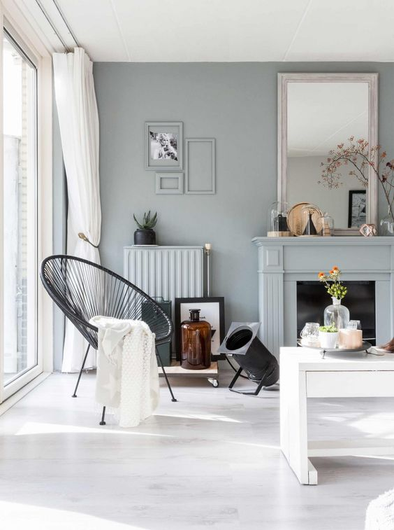 Blue grey livingroom in Breda   Photographer Hans Mossel   Styling Sabine Burkunk   Text Floor Roelvink