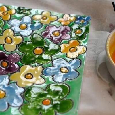 Con pintura de jarabe de maíz (no tóxicas)