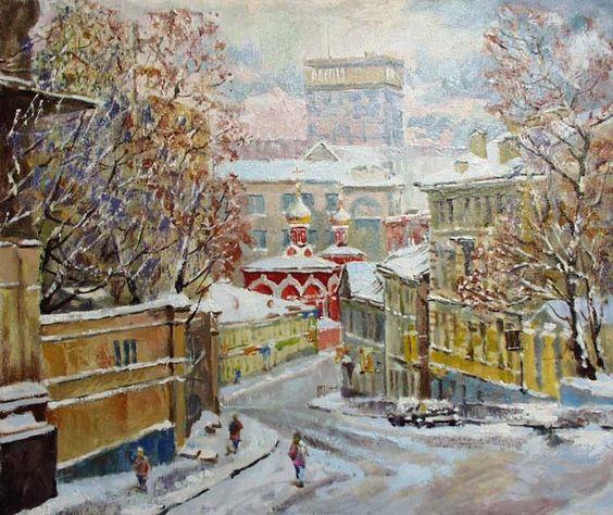 Moscow. Soljanka street  --------------------------------------------------------------------------------    Artist     Valeri Izumrudov