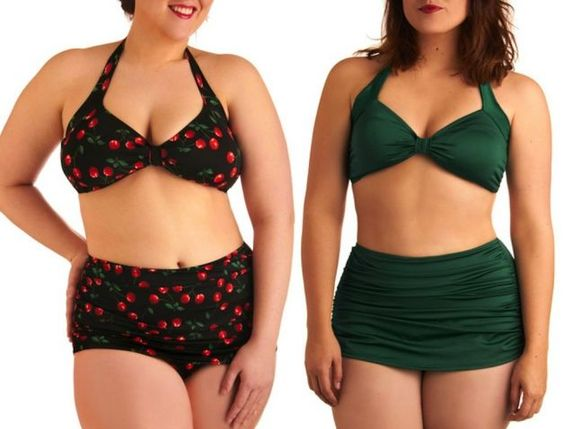 Curvy women, Bathing suits and Bathing on Pinterest