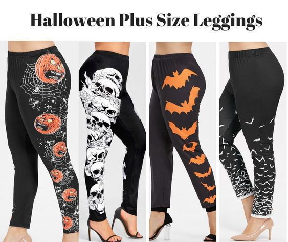 c68d57f03fb Plus Size Halloween Leggings and Dresses at RoseGal - Halloween Wikii