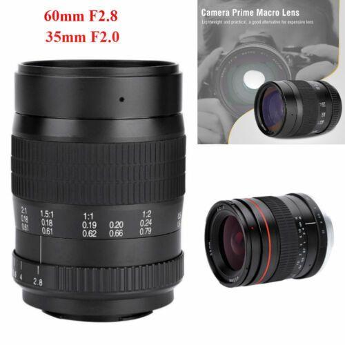 New 35mm F2 F22 60mm F2 8 Mf Large Aperture Full Frame Lens For Canon Nikon Gd Canon Lens Aperture Nikon
